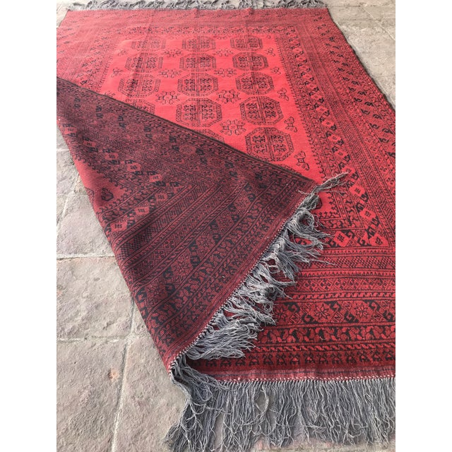 Vintage Hand-Knotted Wool Rug- 6′7″ × 10′7″ For Sale - Image 9 of 13