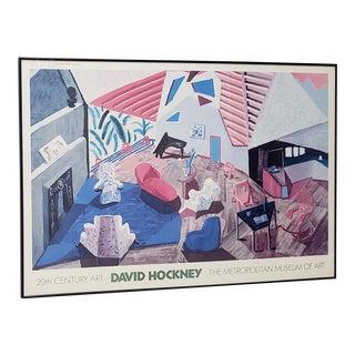 David Hockney Metropolitan Museum of Art Framed Poster For Sale