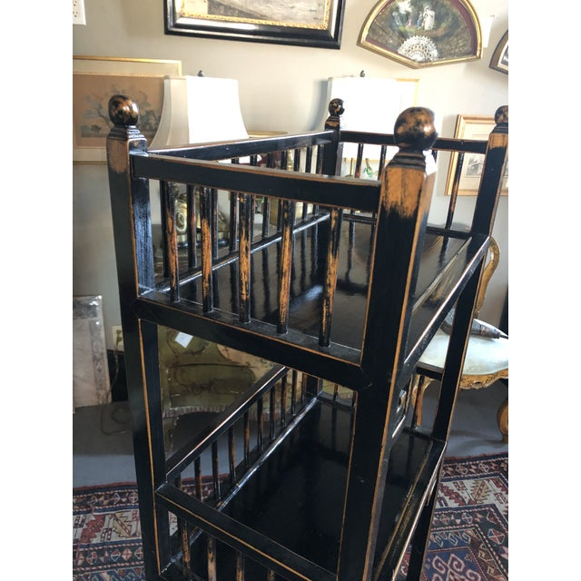 20th Century Asian Inspired Chippendale Style Etagere For Sale - Image 9 of 12