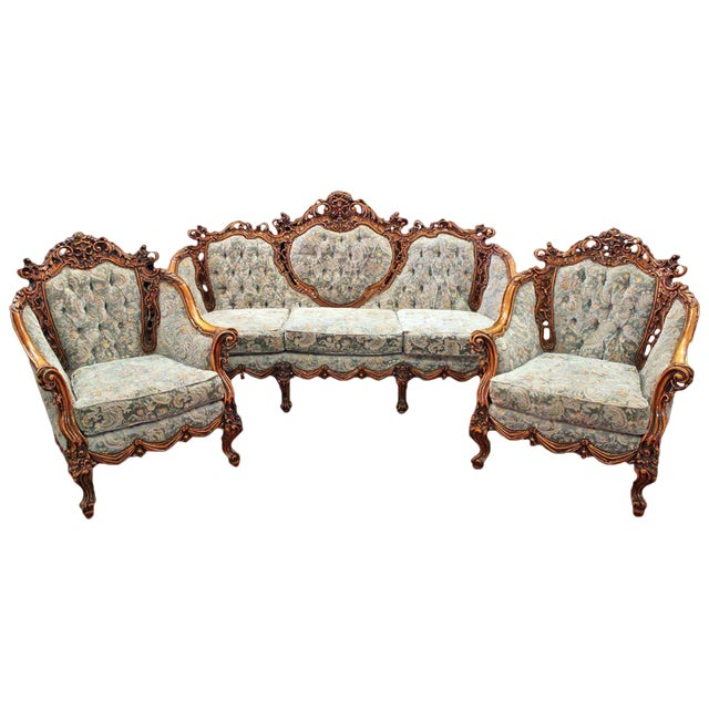 Rococo Parlor Suite - Set of 3 - Image 1 of 6