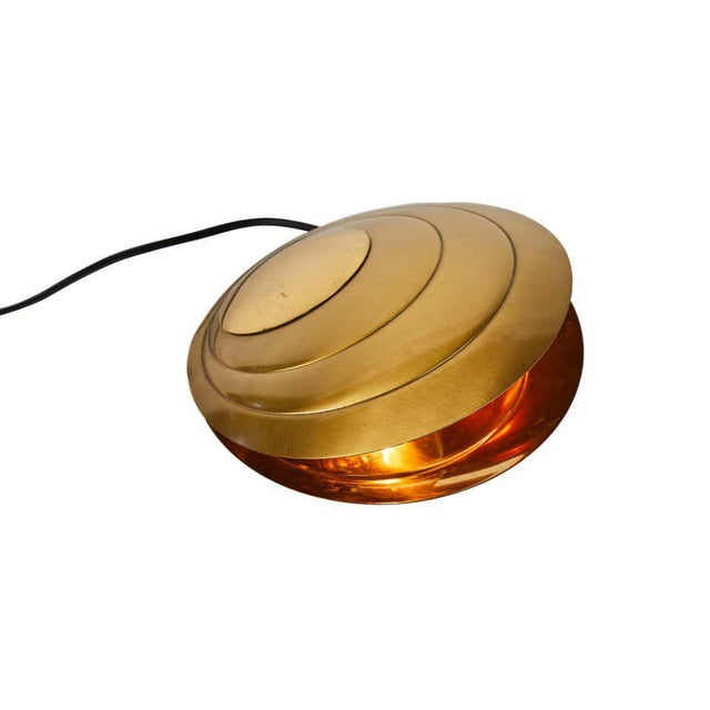 Angelo Brotto 1960s Brass Clamshell Table Lamp by Angelo Brotto For Sale - Image 4 of 13