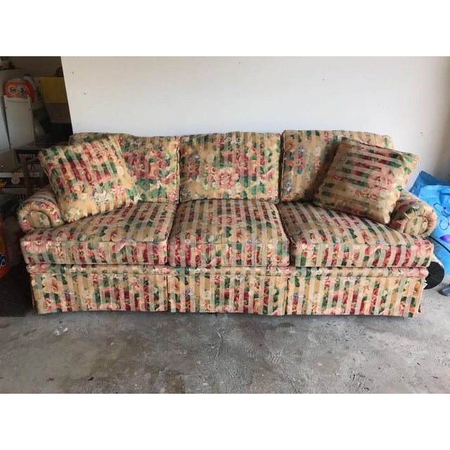 Contemporary Floral Sofa For Sale - Image 4 of 4