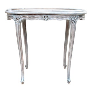 French Kidney Shape Marble Top Table For Sale