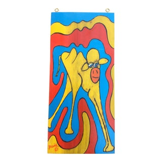 1970s Vintage Psychedelic Painting For Sale