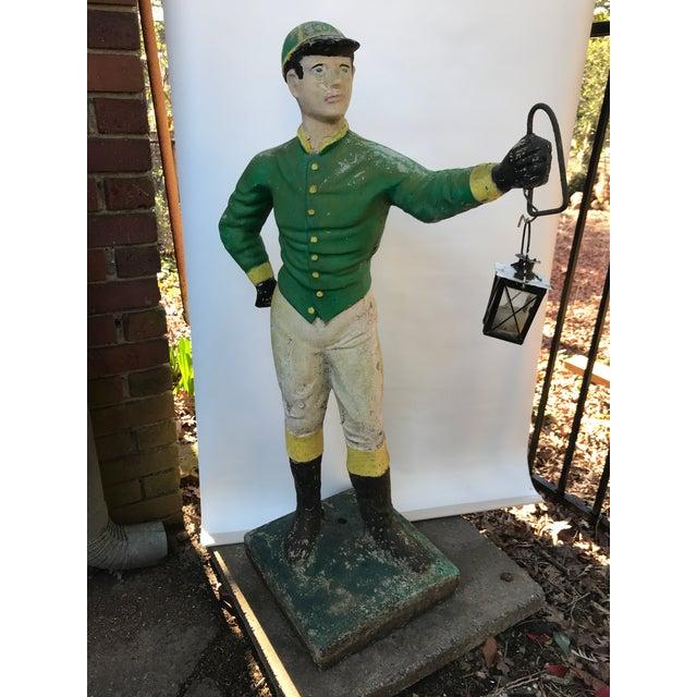 Green Concrete Lawn Jockey Statue For Sale - Image 8 of 8