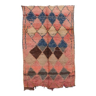 """Moroccan Handwoven Boujad Rug, 4'8"""" X 6'10"""" For Sale"""