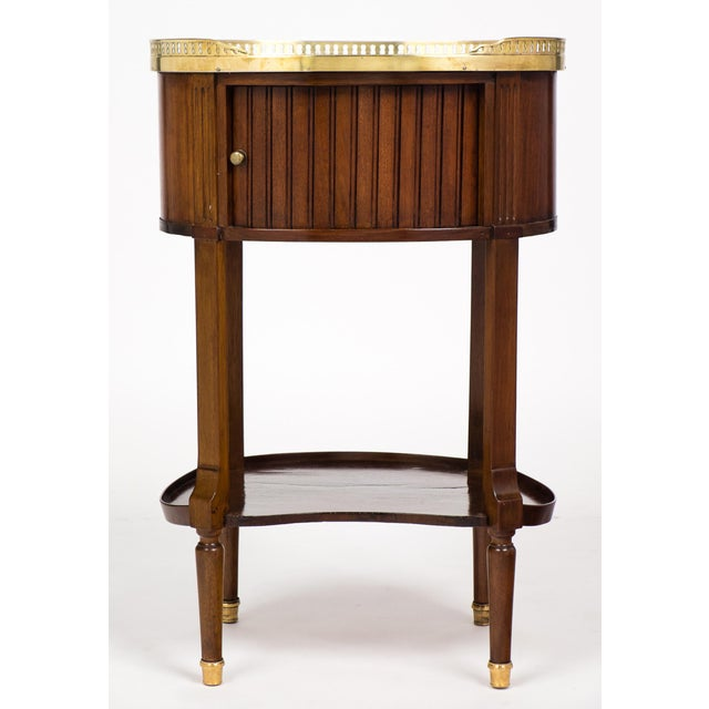 Louis XVI Marble-Top Mahogany Side Table - Image 2 of 10