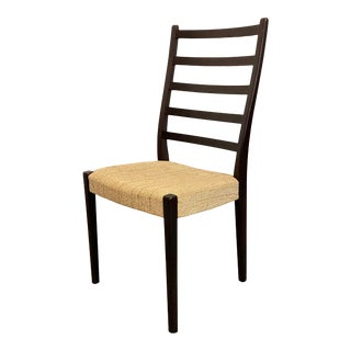 Mid-Century Modern Rosewood Ladder Back Side Chair For Sale