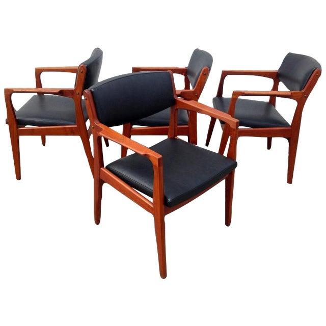 Danish Modern Mid Century Armchairs - Set of 4 - Image 1 of 4