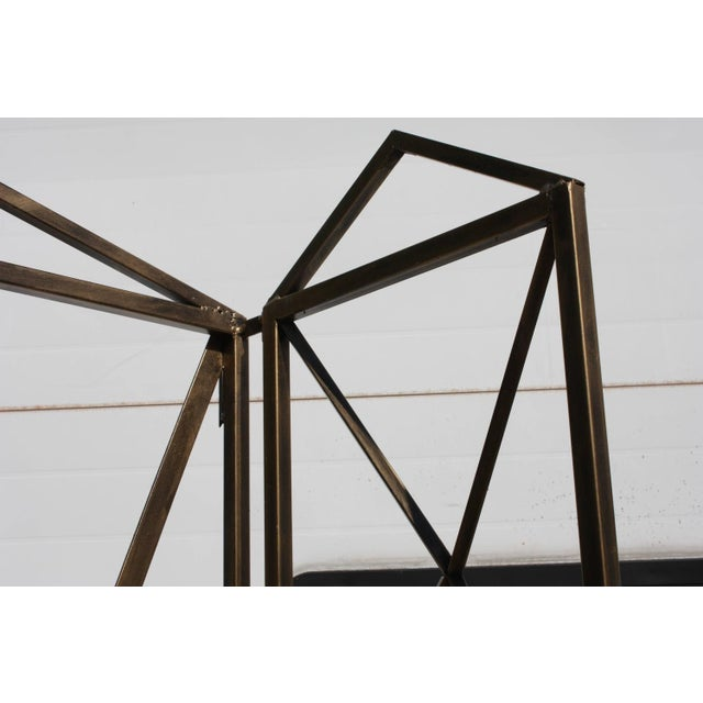 1990s Italian Wireframe Triptych Etagere Shelf - Image 4 of 10