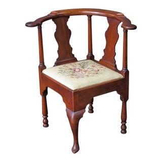 English Corner Chair from the Georgian Era For Sale