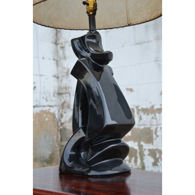 1950s 1950s Abstract Ceramic Table Lamp For Sale - Image 5 of 13