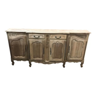 French Enfilade Sideboard Bleached For Sale