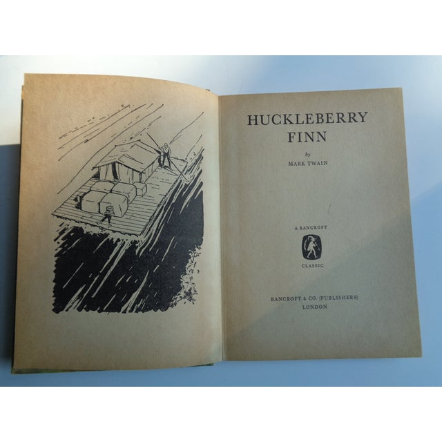 Mid-Century Modern 1960s Vintage Huckleberry Finn Book by Mark Twain For Sale - Image 3 of 5