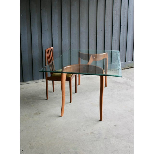 Danish Modern Anthropomorphic Carved Hardwood Dining Table For Sale - Image 4 of 13
