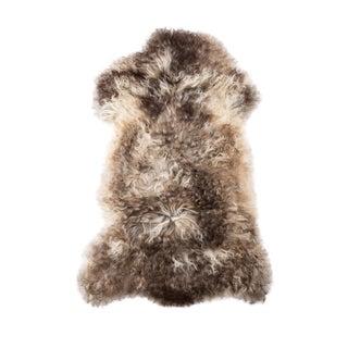"Contemporary Long Soft Wool Sheepskin Pelt -2'0""x3'3"" For Sale"