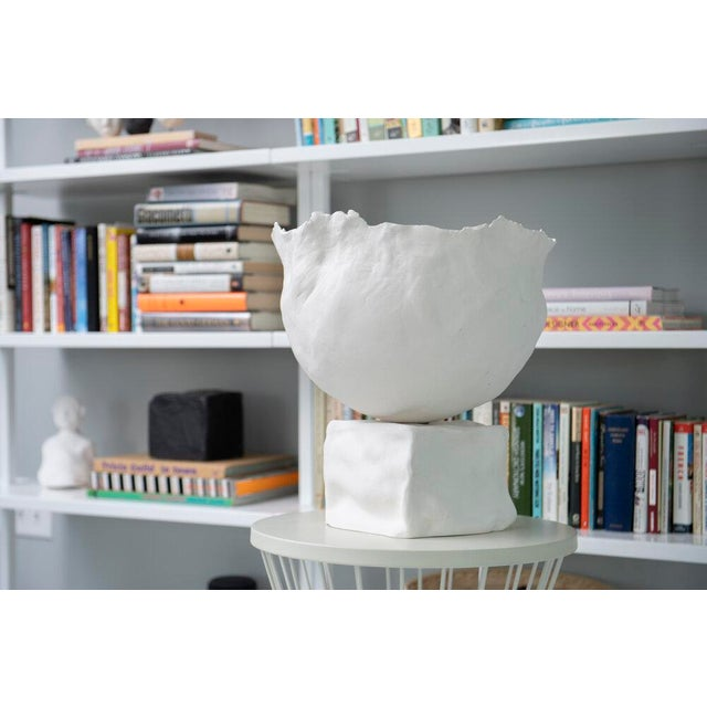 """14"""" earthenware globe 14"""" tall White cord Each light is a handmade, a one of a kind creation. There may be a slight..."""