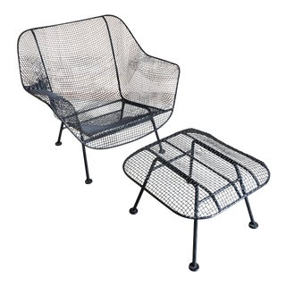 "Russell Woodard ""Sculptra"" Lounge Chair and Ottoman"