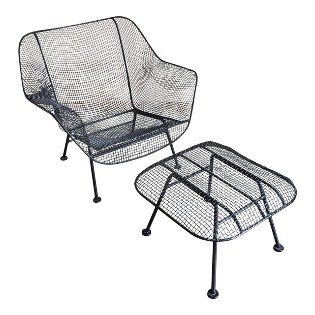"""Russell Woodard """"Sculptra"""" Lounge Chair and Ottoman For Sale"""