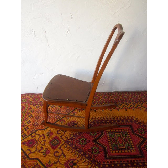 Early 20th Century 20th Century Americana Wooden Rocking Chair For Sale - Image 5 of 9