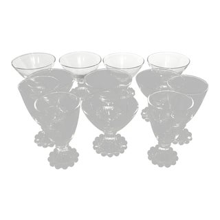 Vintage Anchor Hocking Clear Glass Boopie Glasses - Set of 12 For Sale