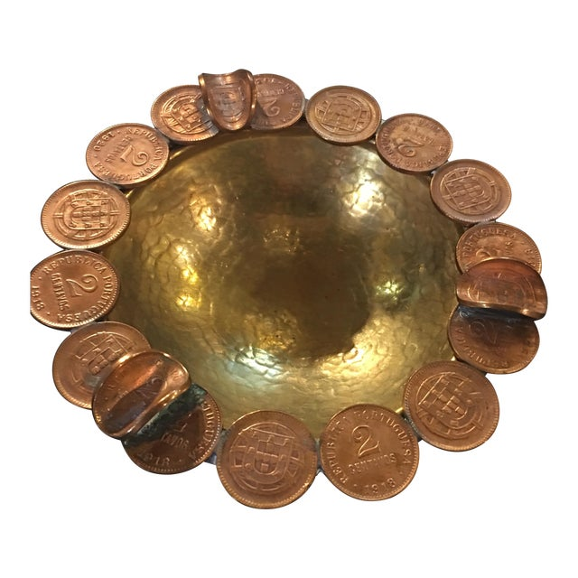 Vintage Brass Coin Bowl - Image 1 of 7