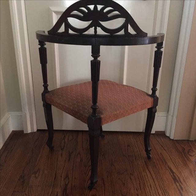 Mahogany Corner Chair - Image 5 of 5
