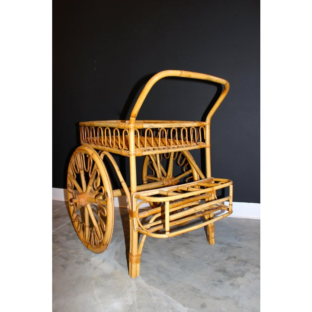 Rattan Bar Cart - Image 4 of 10