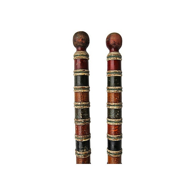 Traditional Croquet Stakes - Pair For Sale - Image 3 of 4
