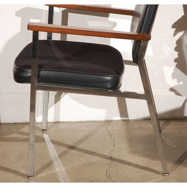 Pair of Bauhaus Chrome and Wood Black Armchairs For Sale - Image 4 of 10