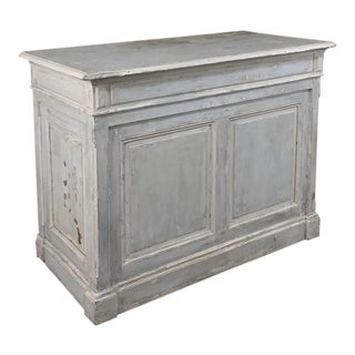 Antique French Painted Store Counter For Sale