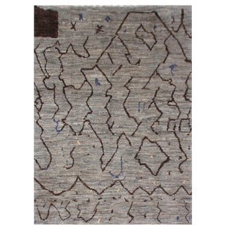 Aara Rugs Inc. Moroccan Inspired Hand-Knotted Rug - 5′8″ × 8′2″ For Sale