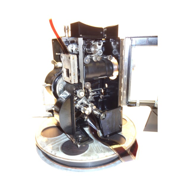Black Kaplan 35mm Cinema Movie Projector Head, Circa 1930 Fully Restored and Gorgeous. For Sale - Image 8 of 12