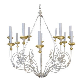12-Arm Rivoli Chandelier by Niermann Weeks For Sale