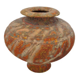 Vintage Peter Andersson Australia Glazed Earthenware Artisan Pot or Vase With Papers For Sale