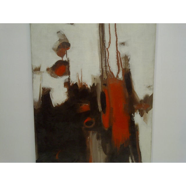 "Contemporary 20th Century Contemporary Original Framed Painting on Canvas, ""Flowing Red"" by Frederick McDuff For Sale - Image 3 of 8"