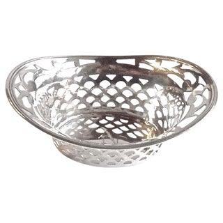 Vintage Pierced Sterling Silver Salt Dish