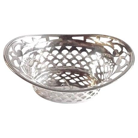 Vintage Pierced Sterling Silver Salt Dish - Image 1 of 4