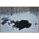 """Image of Stephen Remick """"Crossing Destruction Brook"""" Contemporary Painting For Sale"""