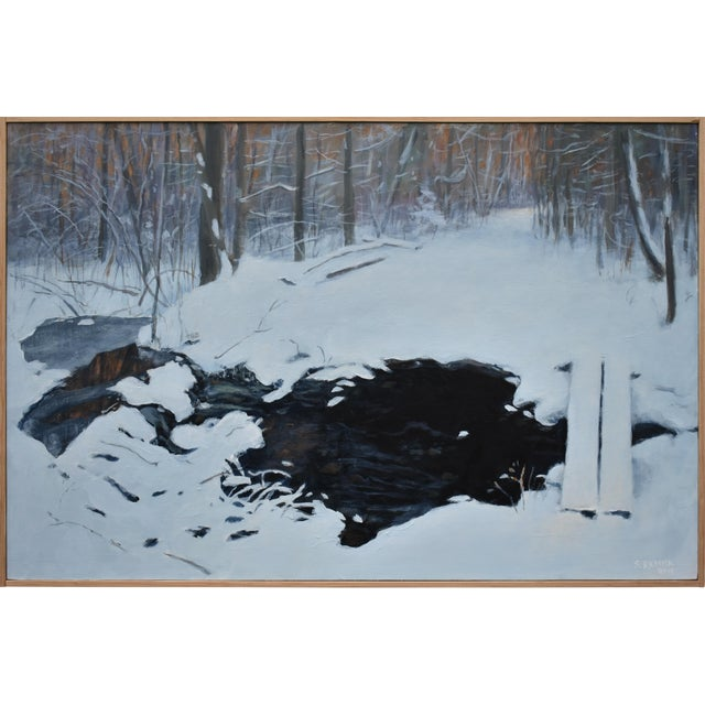 """Stephen Remick """"Crossing Destruction Brook"""" Contemporary Painting For Sale"""