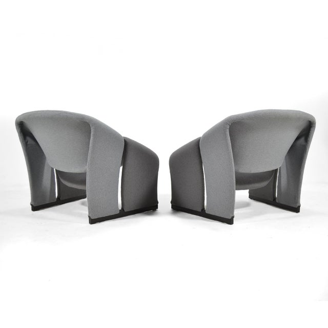Pair of Pierre Paulin Model F580 Lounge Chairs by Artifort For Sale In Chicago - Image 6 of 12