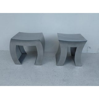 "Contempo Italian De Castelli Stainless Steel ""In and Out"" Benches - A Pair Preview"
