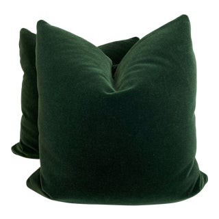"Forest Mohair 22"" Pillows-A Pair For Sale"