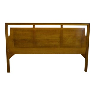 Mid Century Modern Light Walnut Danish Style Full Size Headboard For Sale