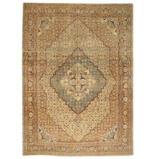 Antique 19th Century Persian Tabriz Carpet For Sale