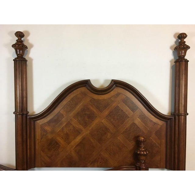 Thomasville Mahogany Four Poster Bed Frame