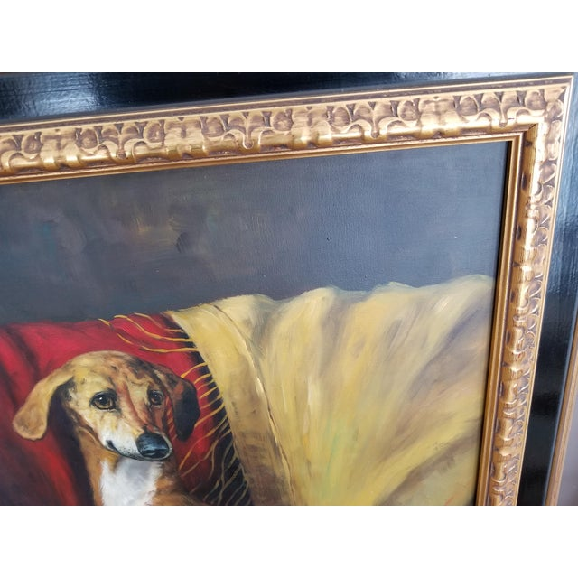 Maitland Smith-Style Greyhound Dog Painting For Sale - Image 10 of 10