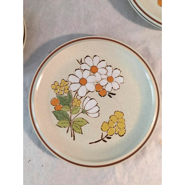 Shabby Chic 1970s Hand Painted 70's Hearthside Stoneware - Set of 6 For Sale - Image 3 of 4