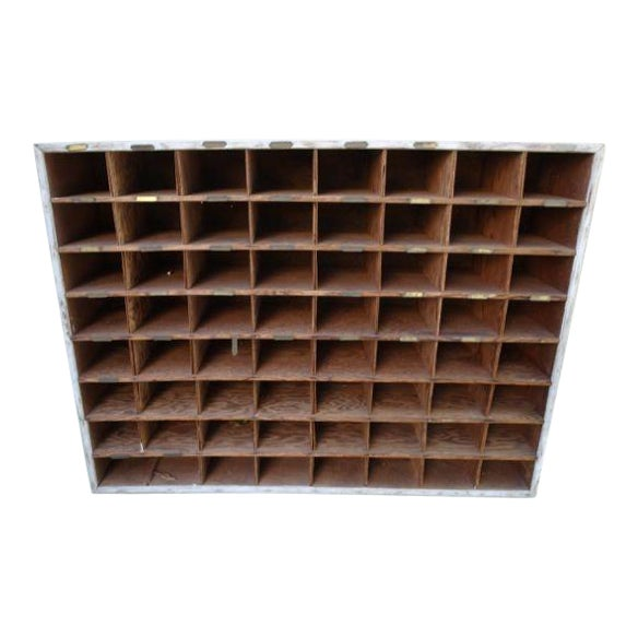 Vintage Hotel Mail Sorter/Wine Cubby - Image 1 of 5