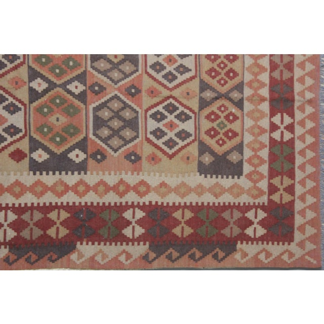 """Hand Knotted Maimana Kilim by Aara Rugs - 6'5"""" x 4'11"""" For Sale In Los Angeles - Image 6 of 6"""